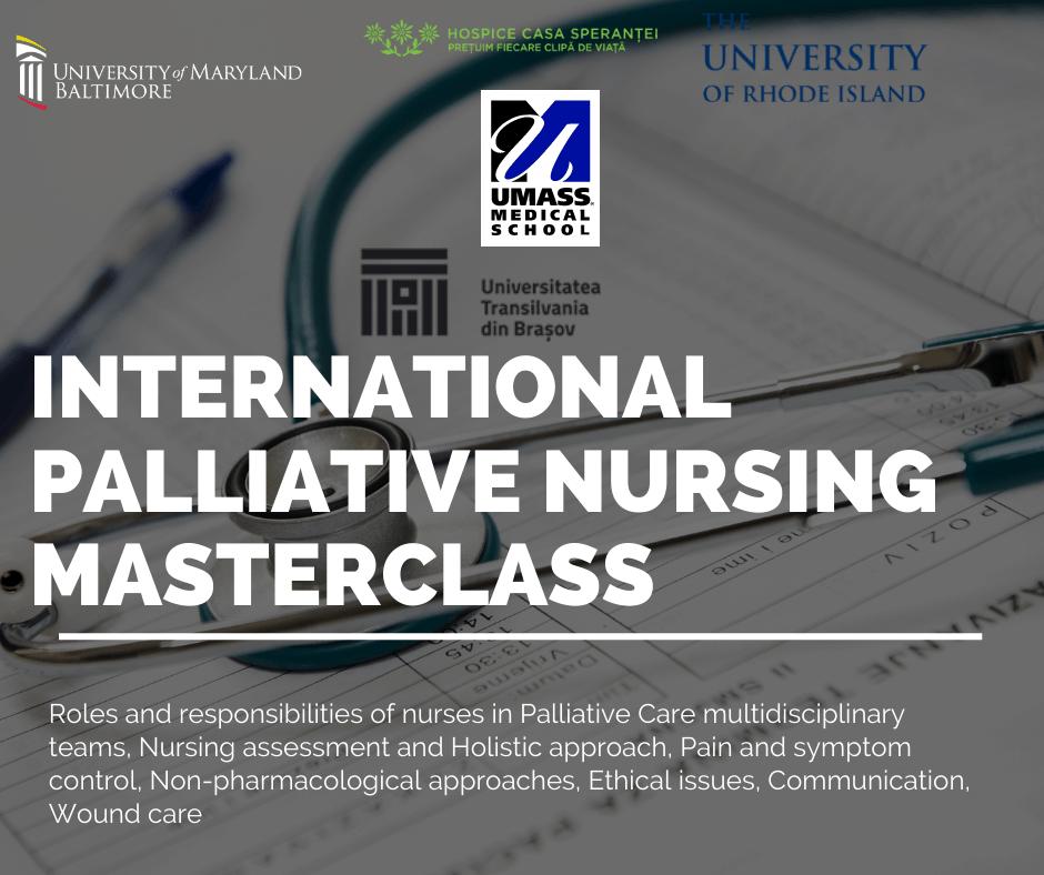INTERNATIONAL PALLIATIVE NURSING MASTERCLASS 1